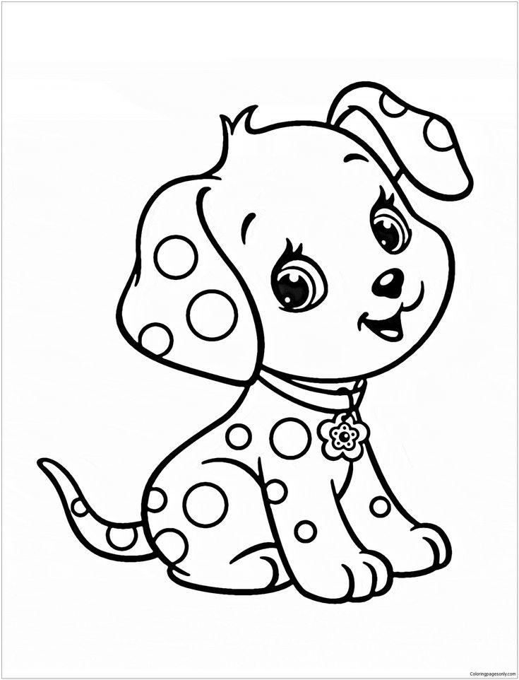 cute puppy 5 coloring page crianas para colorir
