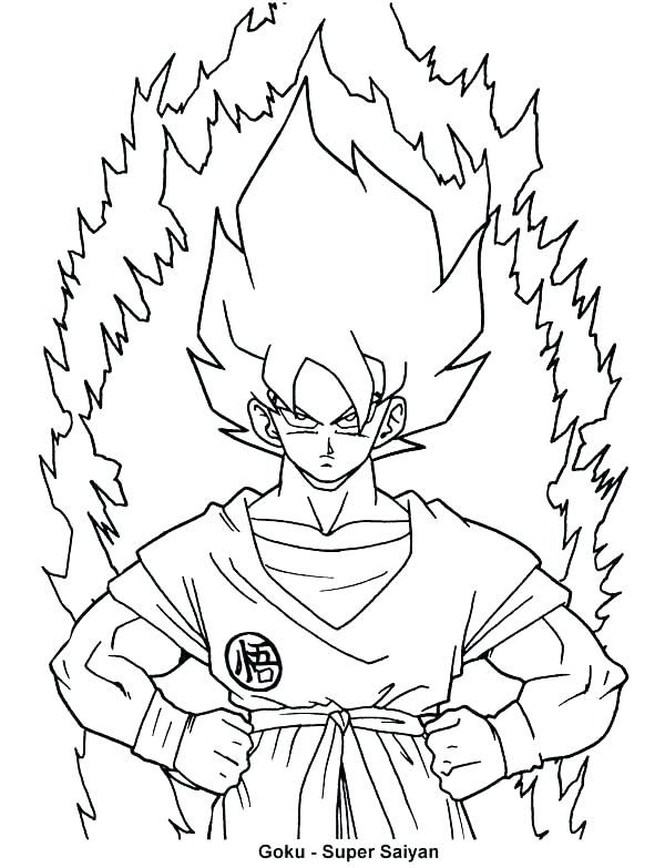 dragon ball z coloring pages to print at getdrawings