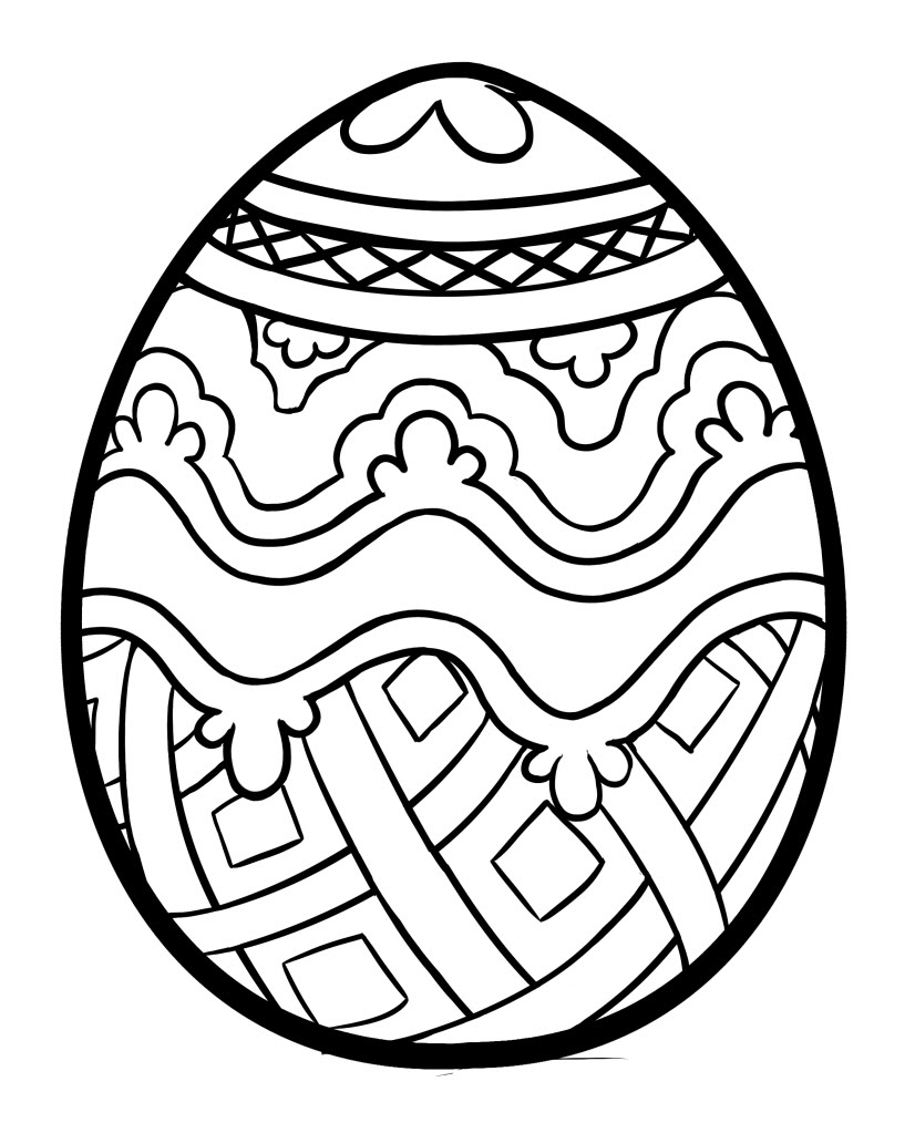 easter egg coloring pages getcoloringpages