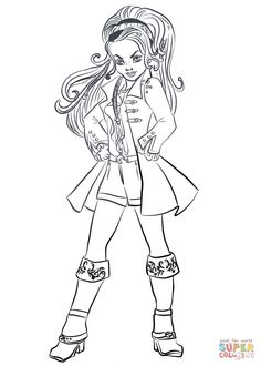 evie descendants 2 coloring page free movie coloring
