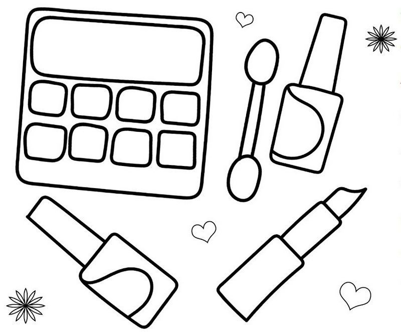 face makeup palette coloring page pginas para colorear