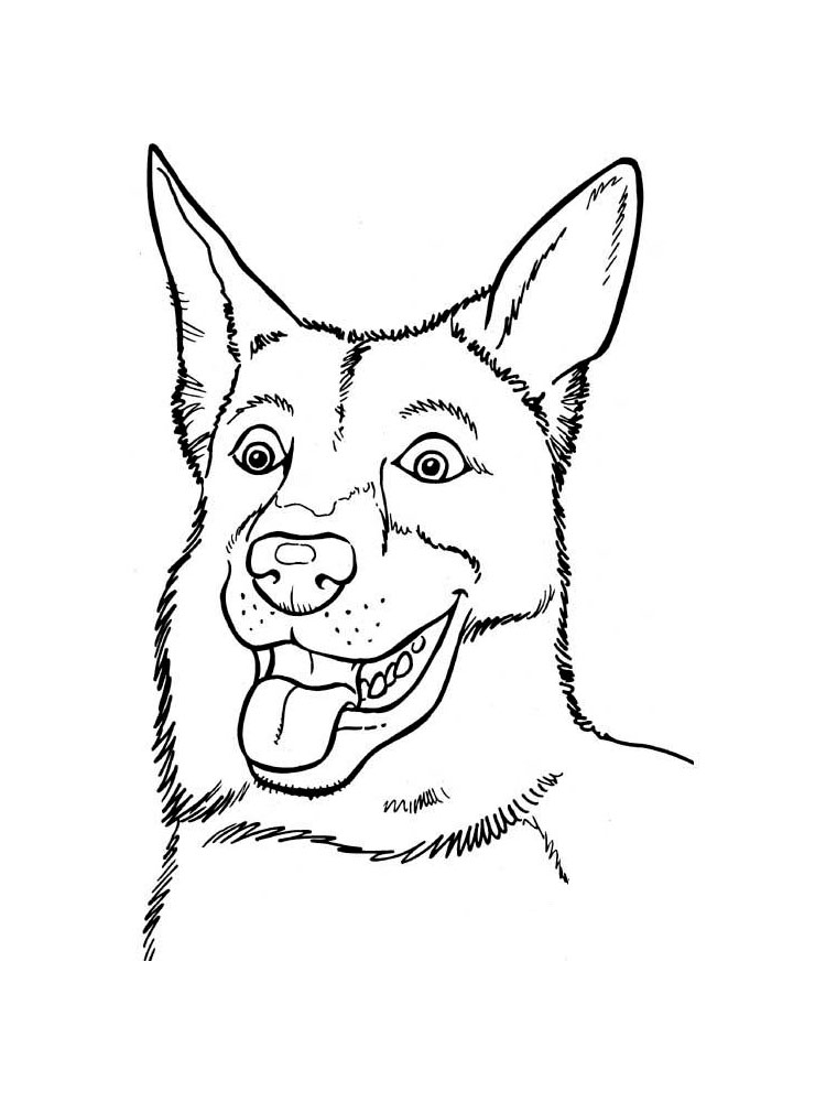 free german shepherd coloring pages download and print