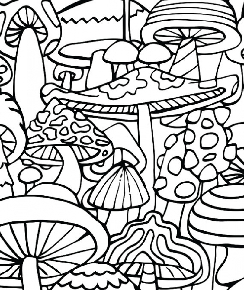 Psychedelic Coloring Pages Idea - Whitesbelfast