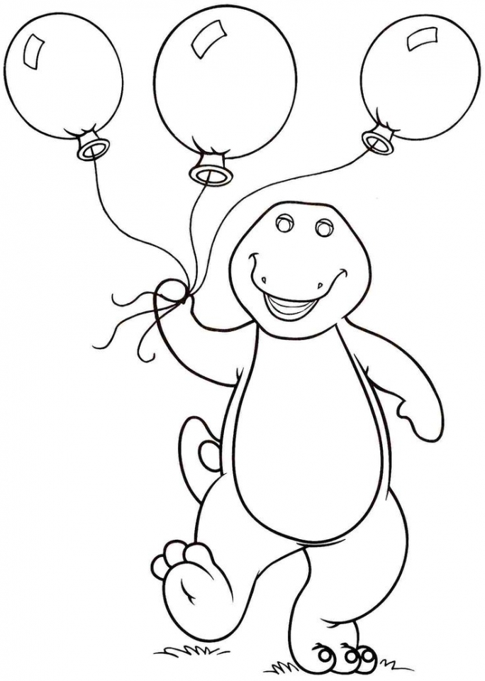 get this free barney coloring pages to print for kids 43780