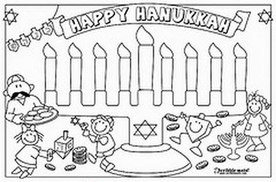 hanukkah coloring pages menorahs family holiday
