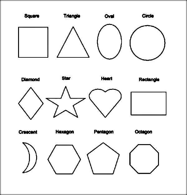 heart shapes coloring pages shape coloring pages shapes
