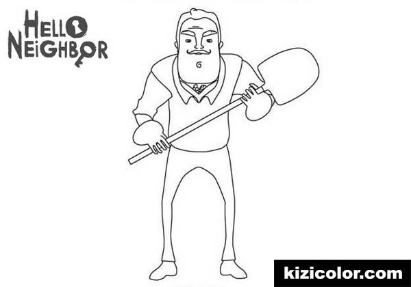 hello neighbor kizi free coloring pages for children