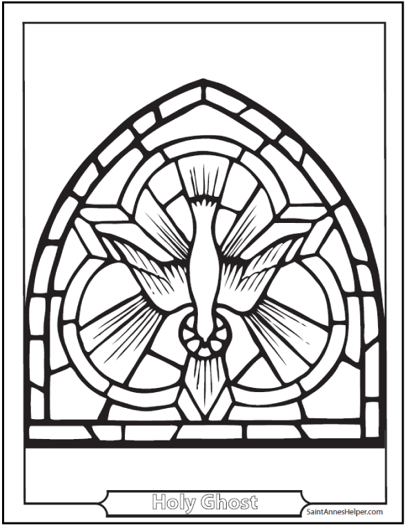 holy spirit dove coloring page and fruits catholic
