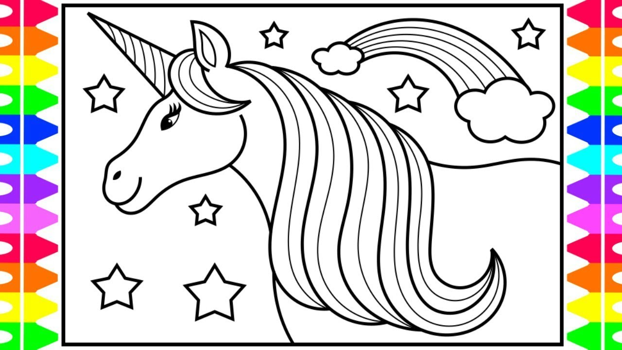 how to draw a unicorn for kids unicorn drawing
