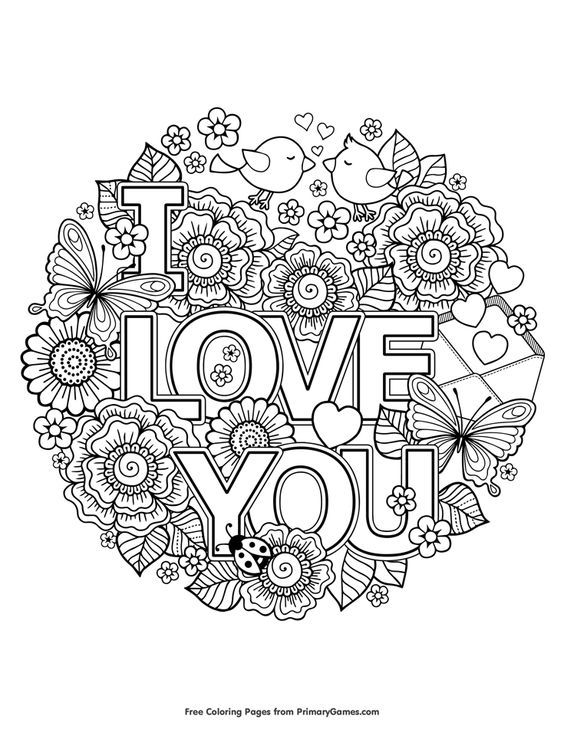 i love you coloring page free printable ebook