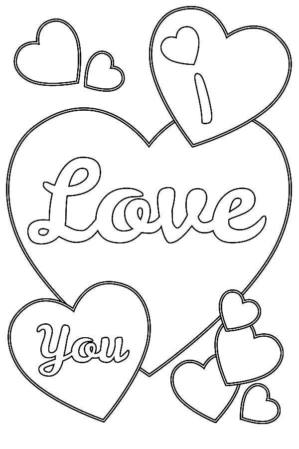 i love you coloring page heart coloring pages valentine