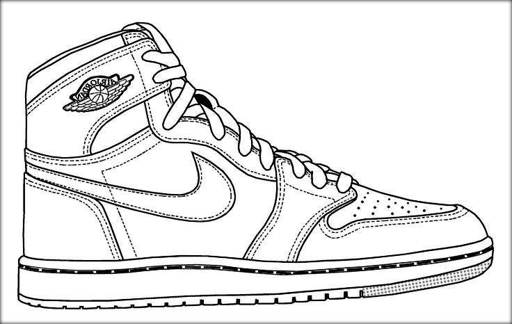 jordan drawing shoes at getdrawings free download