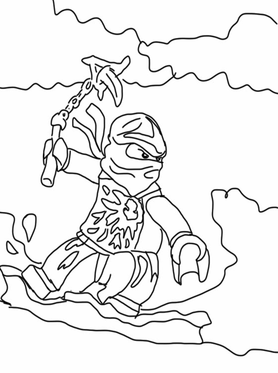 kids page lego ninjago coloring pages