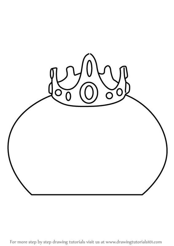 learn how to draw king slime from terraria terraria step