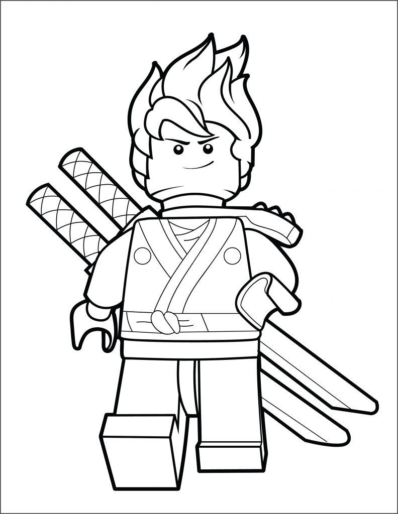 lego ninjago coloring page kai the brick show
