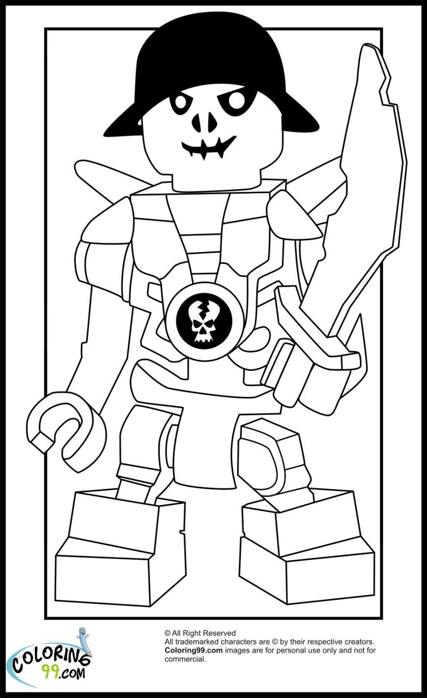 lego ninjago skulkin coloring pages team colors