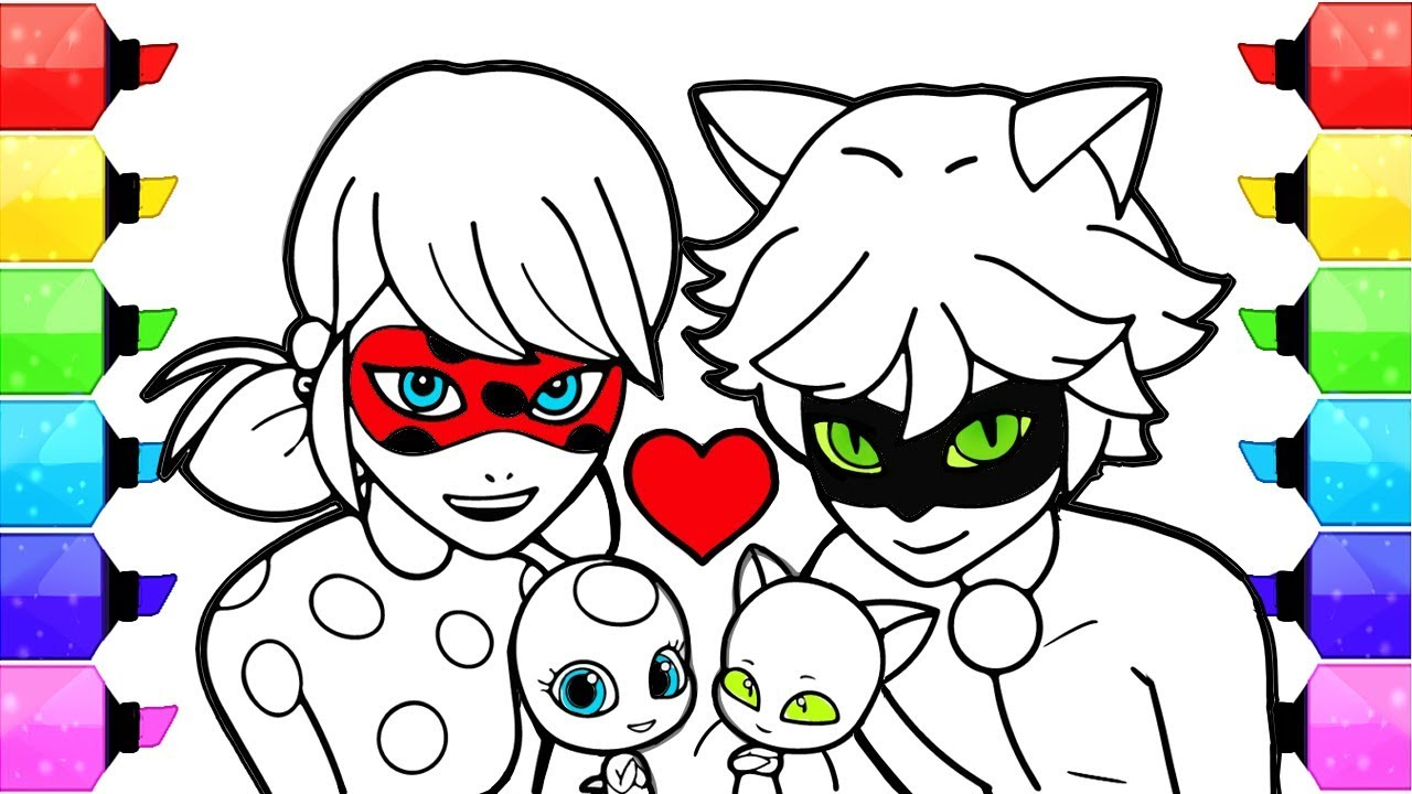 miraculous ladybug coloring pages how to draw and color
