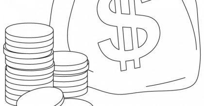 money coloring pages kids coloring pages