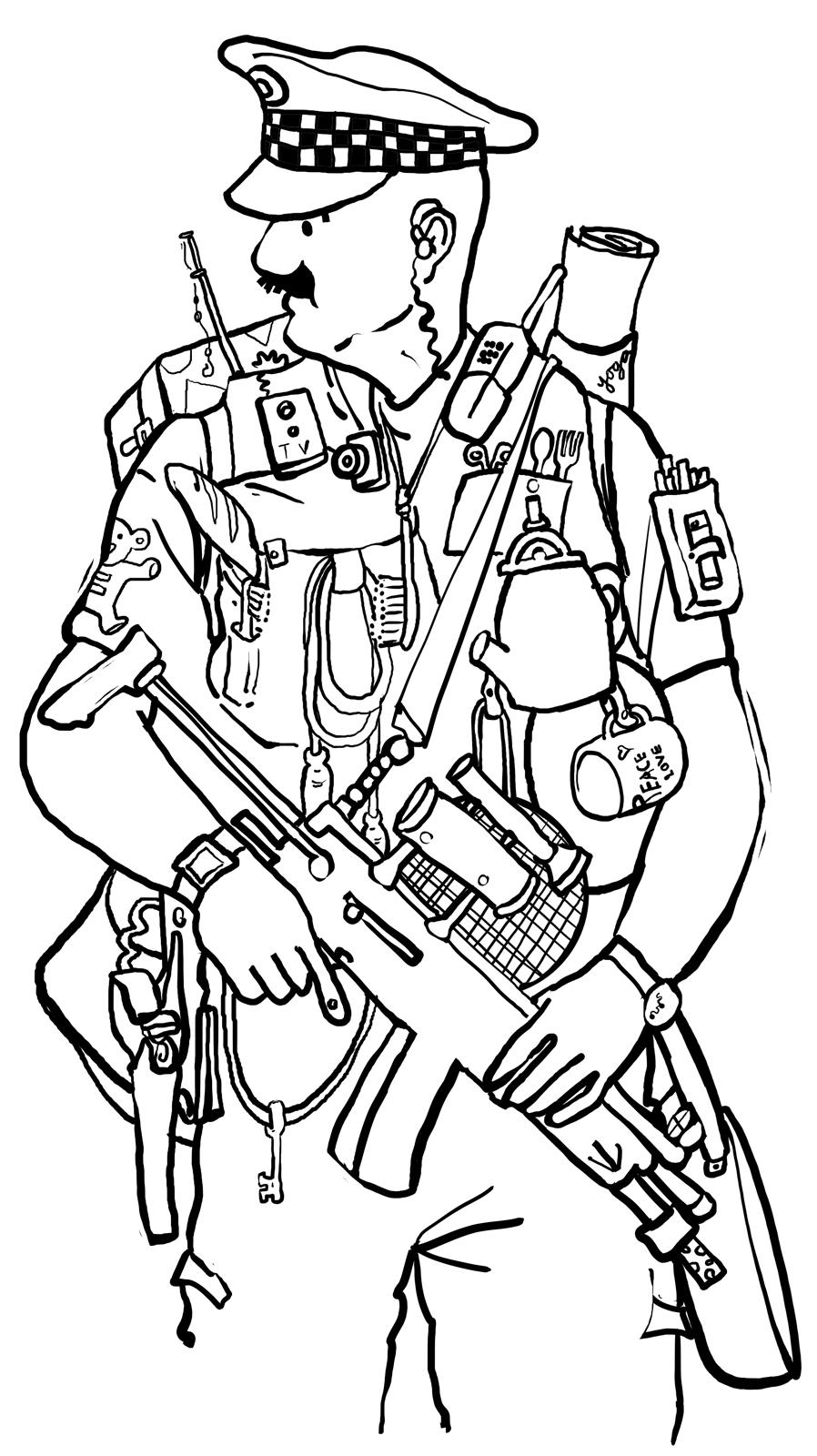 police officer drawing at getdrawings free download