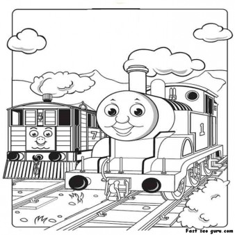 print out pictures of to the tram engine thomas the