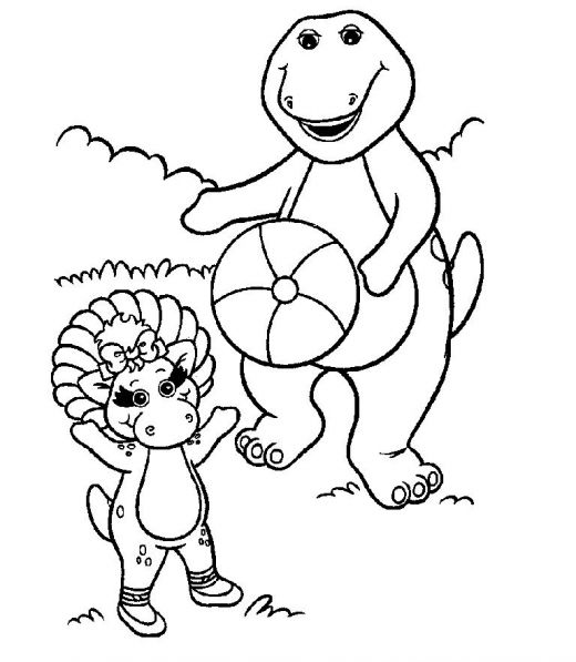 printable coloring pages barney coloring pages
