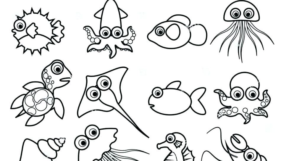 printable sea animals coloring pages for kids