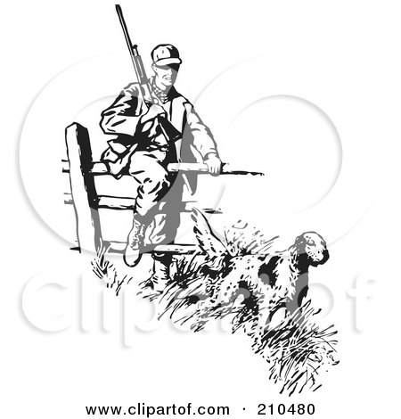 royalty free rf hunting dog clipart illustrations