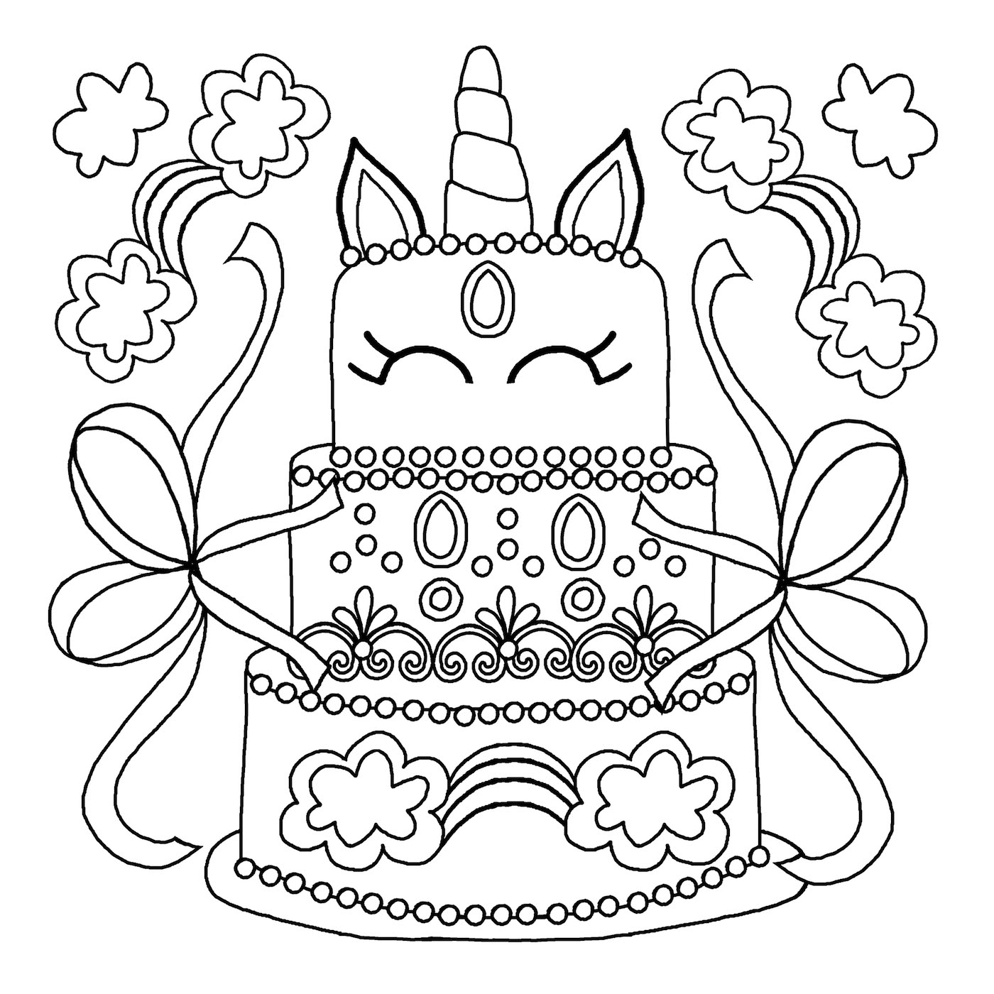 slime cake coloring pages
