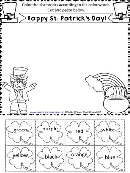 st patricks day coloring pages sues study room tpt