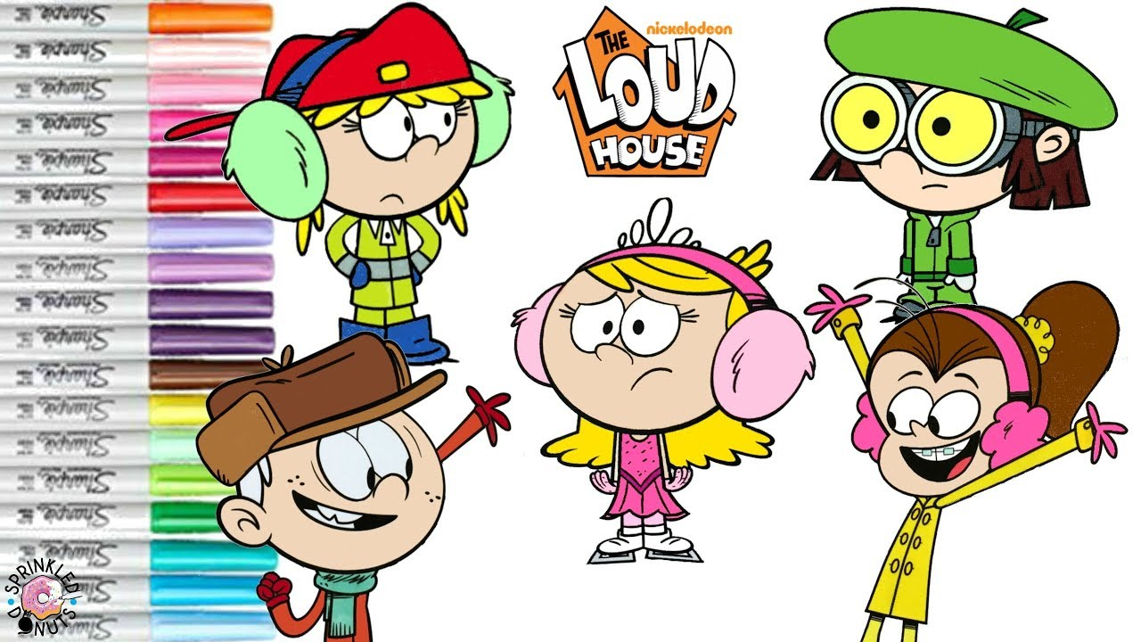 the loud house coloring book compilation wintertime lisa