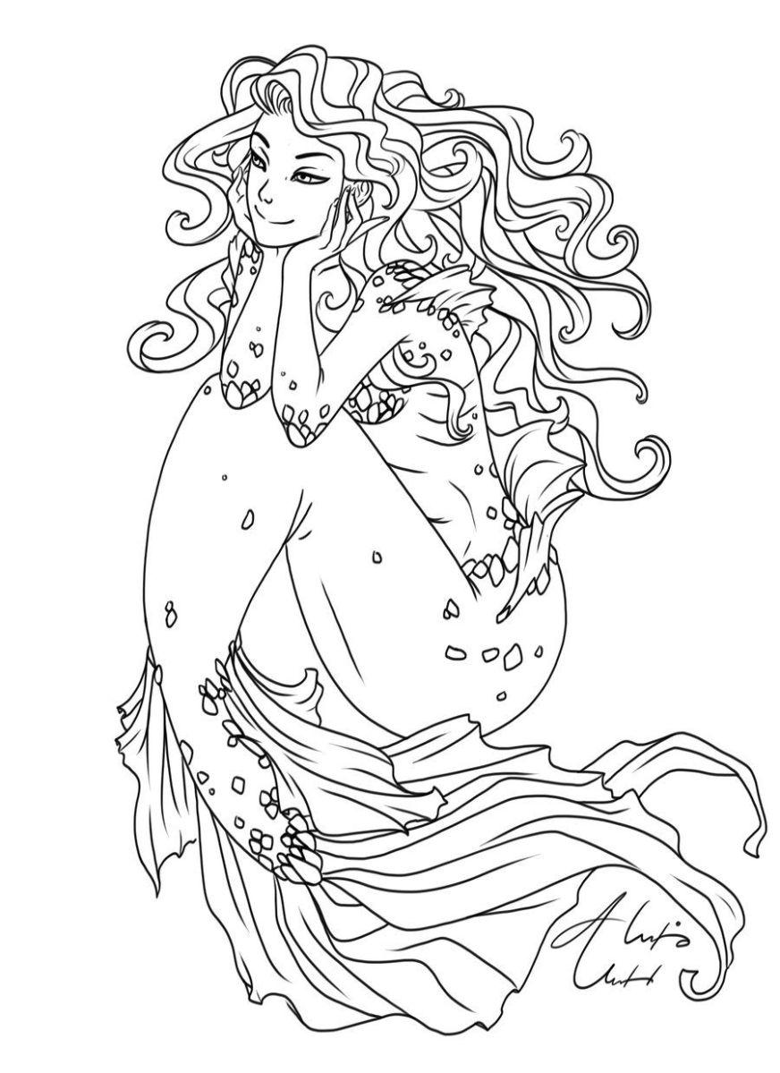 wavy hair ol alexisunderwood on deviantart mermaid