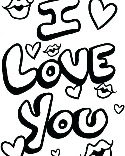 we love you coloring pages at getcolorings free