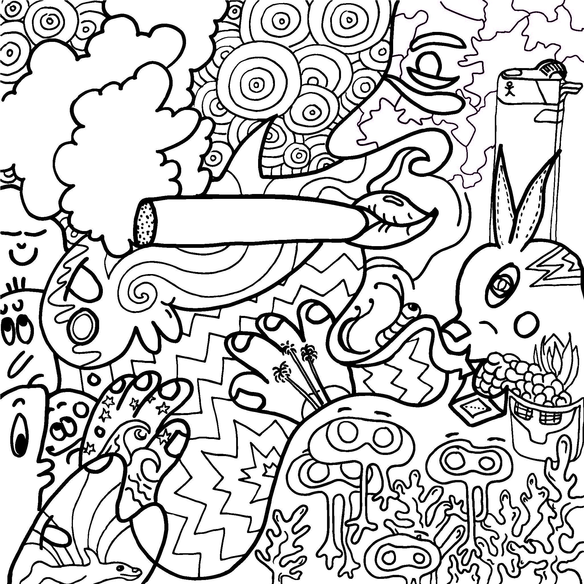 weed coloring pages colouring