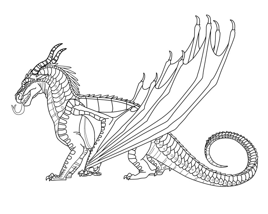 wings of fire nightwing print coloring pages download