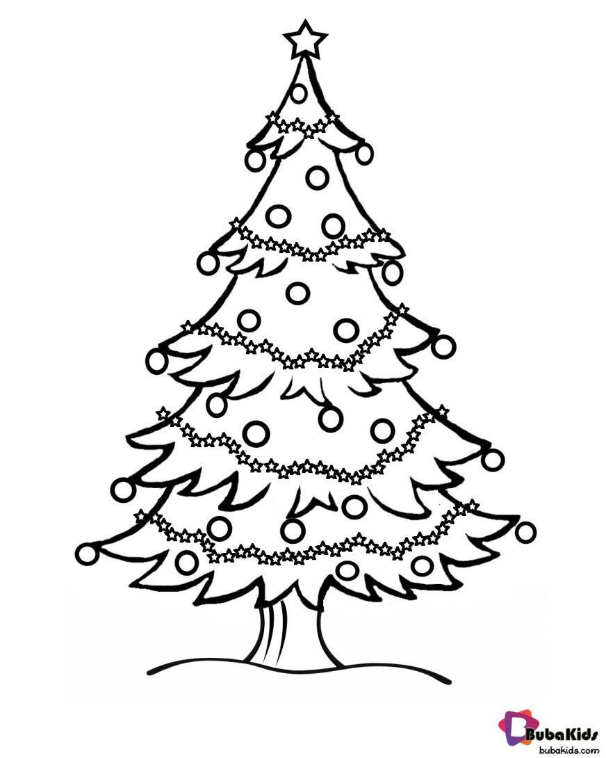 christmas tree free printable coloring page christmas tree