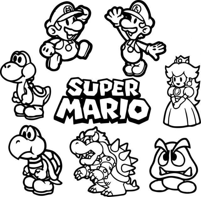 Mario Brothers Coloring Pages Brilliant Ideas And Designs