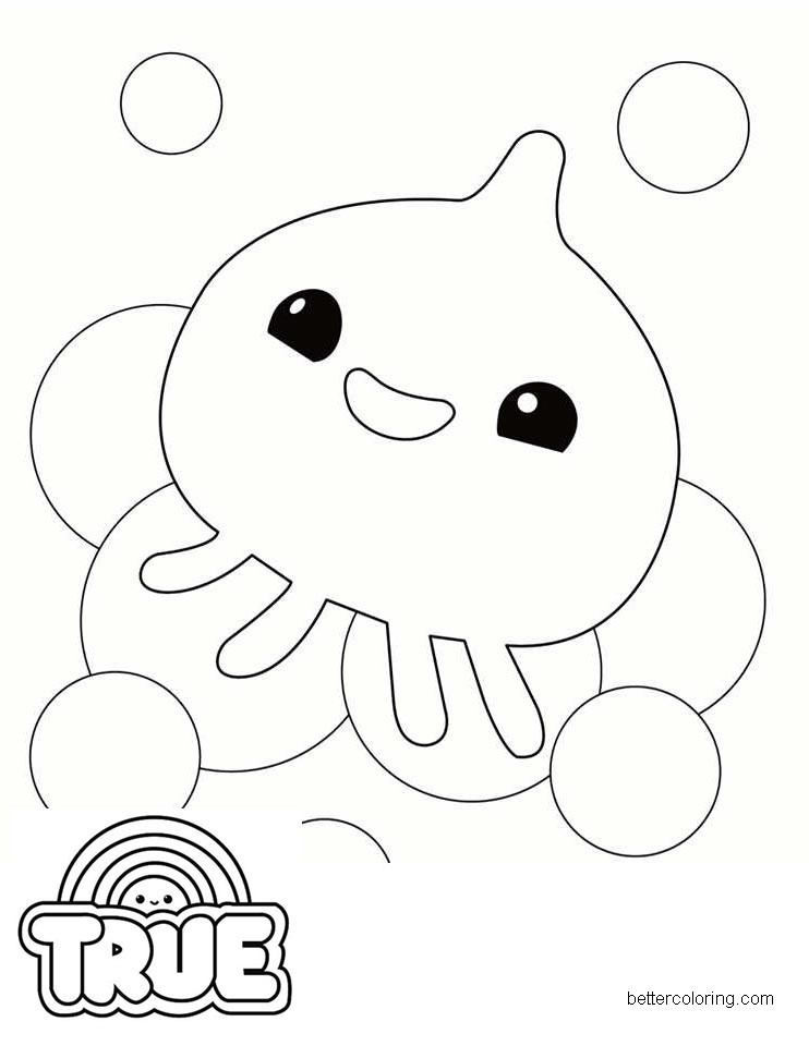 squidzy from true and the rainbow kingdom coloring pages