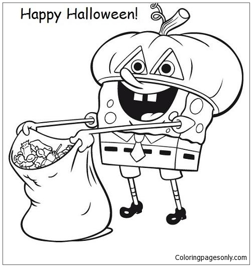spongebob halloween coloring pages holidays coloring
