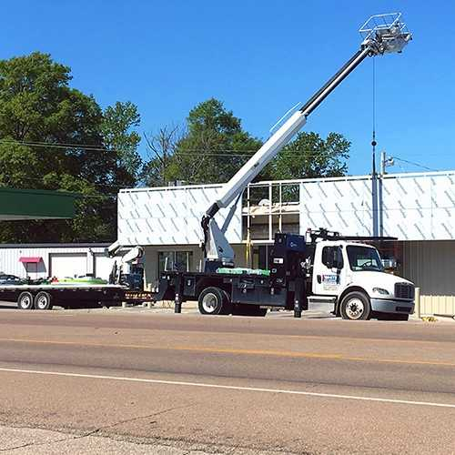 Building fascia delivered and installing on existing building.