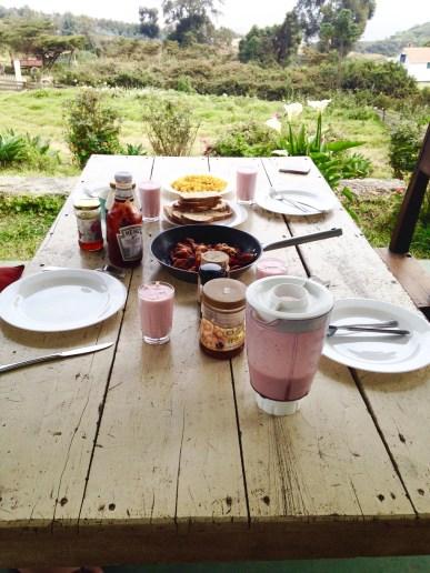 Lovely Sunday breakfast prepared by Simone