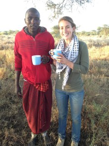 drinks with our Masai guide