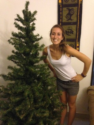 Setting up the Christmas tree before my sister arrived.