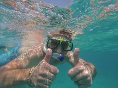 Snorkeling off Zanzibar