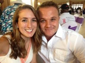 Enjoying our friends wedding in Kenya