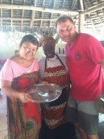 The Japanese Owner of the bungalows...she cooked the fresh fish the boys caught for our dinner