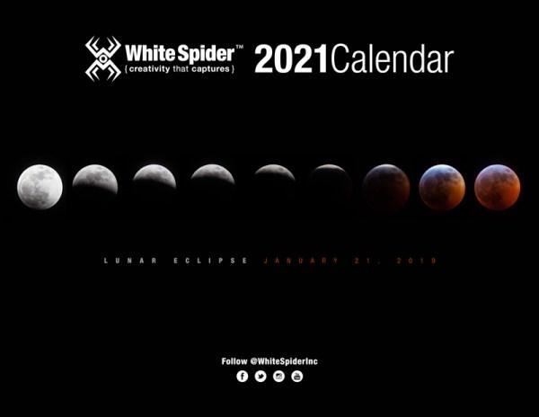 2021 Astro Calendar 8.5x11 Sample Month