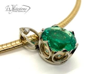 Emerald Necklace Custom Jewelry Design