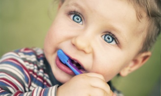 baby toddler dental health pic