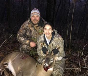 Alexa Henry first whitetail deer