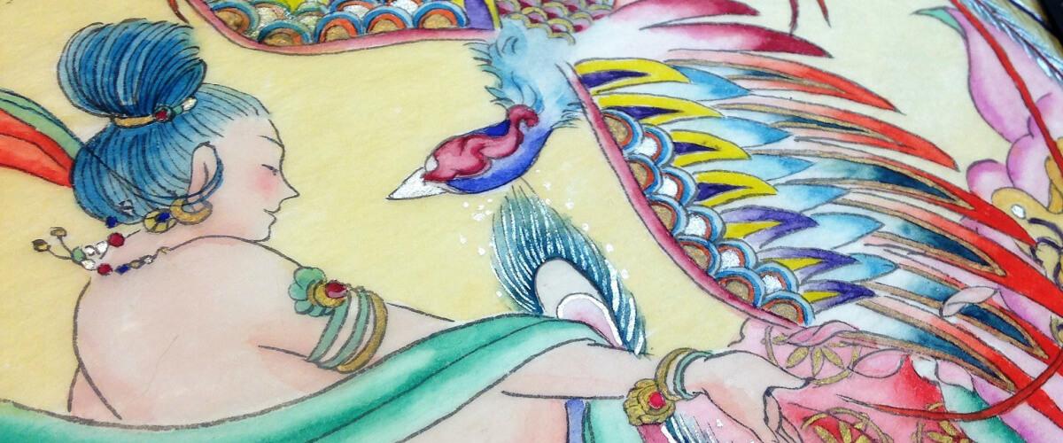 望女成鳳~女の子には鳳凰のように幸福になってほしいとの願いが込められた中国の言葉です